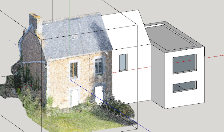 Point cloud sketchup house
