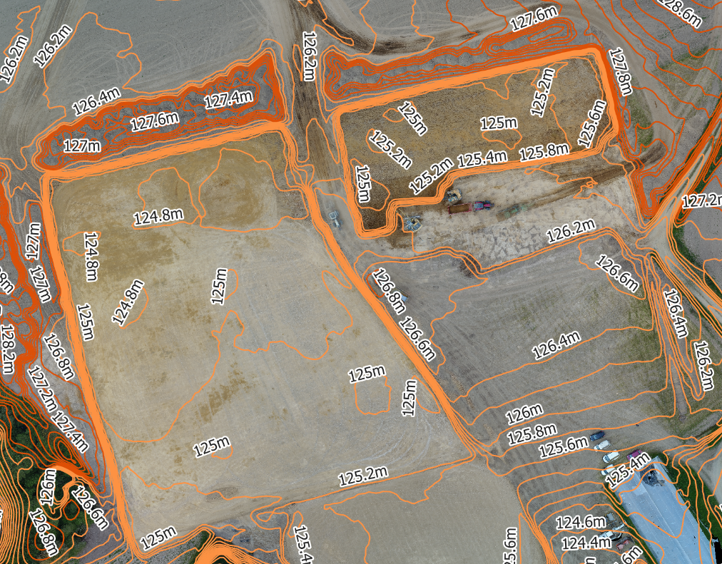 Orthophotoplan topographie drone
