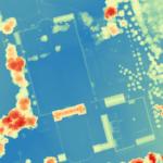 Modéle numérique de terrain (mnt) par drone sur le parc d'un chateau