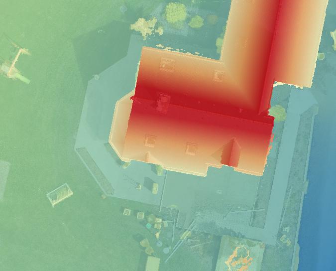 Modèle numérique de terrain par drone