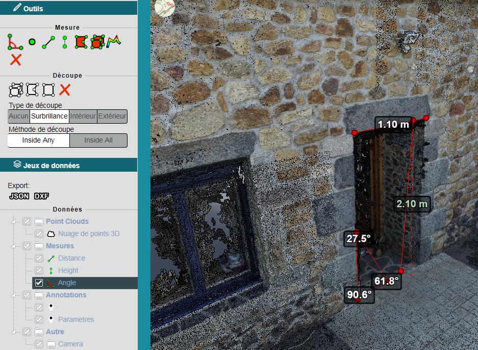 Mesure 3d drone maison