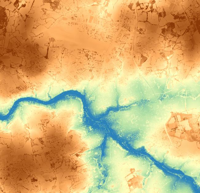topographie ville lannion